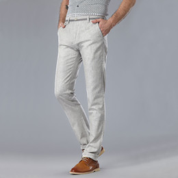 Discount Mens Slim Linen Pants | 2017 Mens Slim Fit Linen Pants on ...