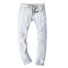 Discount White Skinny Jeans Holes | 2017 White Skinny Jeans Holes ...