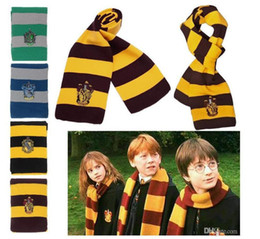200pcs Harry Potter cachecol Gryffindor escola unissex malha listrada cachecol Gryffindor cachecol Harry Potter Hufflepuff Cosplay cachecol