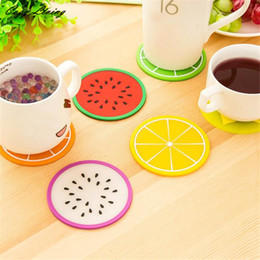 Wholesale Fruit Coaster Colorful Silicone Cup Drinks Holder Mat Tableware Placemat Creative Cartoon Water Coaster Kitchen Decor Dec 20th