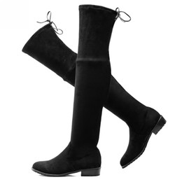 Discount Leather Thigh High Boots Plus Size | 2017 Leather Thigh ...