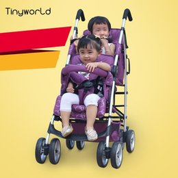 online shopping LEYBOLD twin baby stroller double stroller portable folding twin baby cart can sit and lie colors