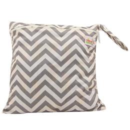Wholesale 5pcs Bébé Protable sacs à couches Nappy réutilisable lavable mouillé chiffon sec Zipper étanche sac à couches