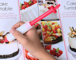 online shopping Food Grade Silicone Cake Cookie Decorating Pen Cylinder Design Cakes Piping Tools DIY Baking Tool Top Quality Bakeware kn