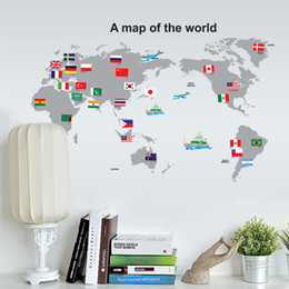 50 70cm A Map Of The World Wall Stickers Diy Art Decal Removeable Wallpaper Mural Sticker For Living Room Office Ay7191