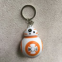 Star Wars The Force Awakens BB8 BB-8 R2D2 Droid Robot LED keychain Action Figure New year toys Wedding Favors DHL Free Shipping from wholesale star wars party supplies suppliers