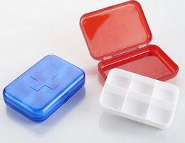 Коробки для таблеток 6 ячеек Коробки для хранения мини-таблеток Пластиковые чехлы для медикаментов Ювелирные украшения Организаторы Коробка для лекарств LLFA