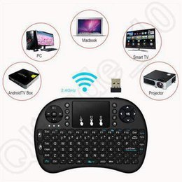 Air Mouse Combo 2.4G Mini i8 Teclado inalámbrico Touchpa para PC Pad Google Andriod TV Box Xbox360 PS3 Smartphone CCA5393 20pcs