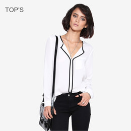 Discount Womens Work Blouses | 2017 Womens Black Work Blouses on ...