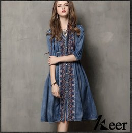Plus Size Denim Vintage Dresses Online | Plus Size Denim Vintage ...