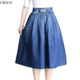 Discount Long Denim Skirts For Women | 2017 Long Denim Skirts For ...