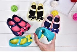 online shopping 2017 New Mini Melissa Little Butterfly Jelly Shoes Butterfly Knot Soft Bottom Fish Head Girls Sandals Baby Shoes Color Mini