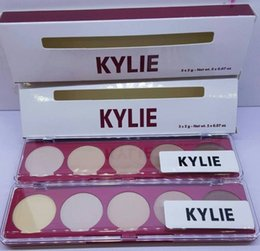 El polvo caliente de la cara de KYLIE del maquillaje de los cosméticos de la venta más la fuerza Corrector de la fundación 10g 5 colores que aparaban el diseño de la marca de fábrica de la cara de los concealers V