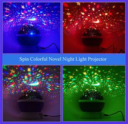 online shopping Room Novelty Night Light Projector Lamp Rotary Flashing Starry Star Moon Sky Star Projector Kids Children Baby LED Lighted Toys DHL free