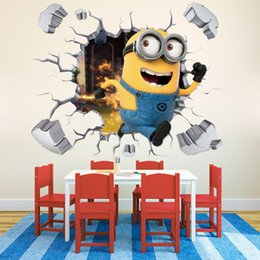 Hot 3D Cartoon Wall Stickers Removable For Kids Nusery Rooms Decorative Wall  Decals Home Decoration Movie