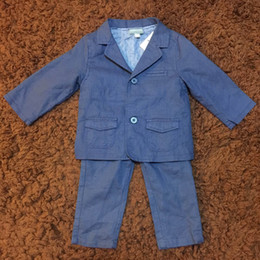 Wholesale Baby Boys Suits Long Sleeve Blazers Long Pants Two Pieces Sets Formal Style Spring Autumn Children Clothes
