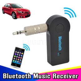 Universal 3.5mm Streaming Car A2DP Receptor inalámbrico Bluetooth Kit de coche Bluetooth AUX Adaptador de audio Bluetooth3.1 bluetooth Manos libres wi