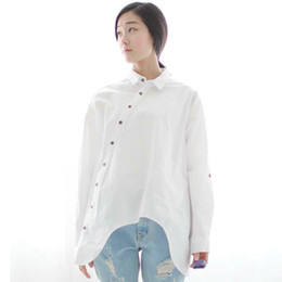 Loose White Button Down Shirt Online | Loose White Button Down ...
