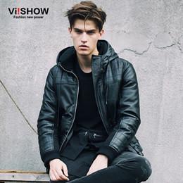 Discount Faux Leather Jacket Hood Men | 2017 Faux Leather Jacket