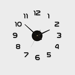 Wholesale Acrylic Best Home Decoration Diy Wall Clock Unique Large Number Stickers Self Adhesive Home Decor Modern Wall Clocks