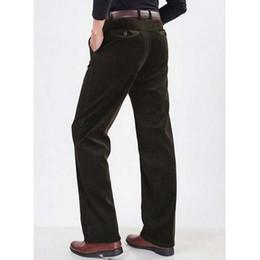 mens elastic waist corduroy pants - Pi Pants