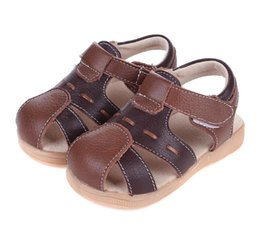 2017 baby boy wrap boys leather sandals summer shoes flat genuine leather baby boys closed toe chaussure de menino sapatos zapato SandQ baby cheap baby boy wrap