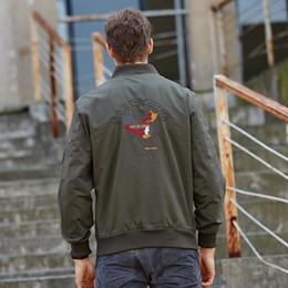 Wholesale Chaquetas y chaquetas para hombre Chaqueta de bombardero MA1 Hombres Aeronautica Chaqueta de viento de estilo militar XL Marca Bombers Homme