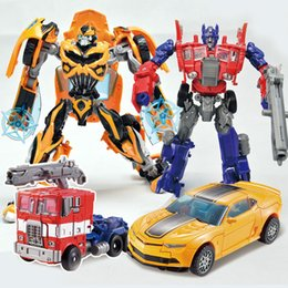 robot car transformation toys kids bumblebee optimus toy anime transformation robot action figure mobel gift for children