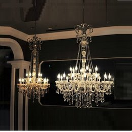 Long Stair Chandelier Crystal Large