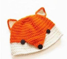 2017 baby adult cap hat New winter Fox Hat Newborn Infant Toddler Kids Crochet Knitted Hats Baby Boys Girls Cartoon Animal Caps Children Handmade Beanie baby adult cap hat for sale