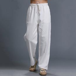 Discount Linen Pants Men Yellow   2017 Linen Pants Men Yellow on ...