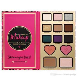 New Arrival O poder da maquiagem por Nikkie Tutoriais Maquiagem conjuntos Sombra Face Cosmestic paleta Blush Bronzer Highlighter 12 Sombra