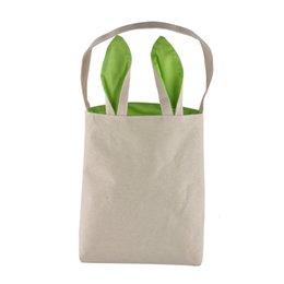 5 couleurs Funny Design sac de lapin de Pâques Oreilles sacs matériel en coton de Pâques Burlap cadeaux de célébration Christma sac en coton sac à main Livraison gratuite
