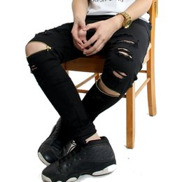Swag Men Ripped Black Jeans Online | Swag Men Ripped Black Jeans ...
