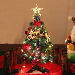 wholesale hot sale artificial christmas tree led multicolor lights holiday window decorations set navidad decoraciones para el hogar - Christmas Decorations Wholesale