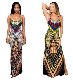 Ethnic Print Maxi Dress Online - Ethnic Print Maxi Dress for Sale
