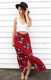 Discount High Waist Floral Maxi Skirt | 2017 High Waist Floral ...