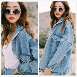 Wholesale Uwback New Oversized Denim Jacket Women Plus Size Loose Jeans Jacket Mulheres Washed Denim Casacos Mulheres Coat