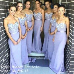 La dama de honor larga de los Appliques de la púrpura de la manera se viste Vestido de Festa 2016 Vestidos formales atractivos del vestido de partido de la sirena del amor