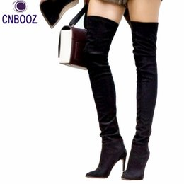 Discount Thigh High Over Knee Boots Leather | 2017 Thigh High Over ...