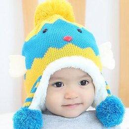 Discount wholesale knitted cashmere hat 2017 new baby hat Korean cashmere knitted with thickened ear baby animal wool hat children Winter Hat
