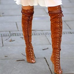 Discount Thigh High Fringe Boots | 2017 Thigh High Fringe Boots on ...