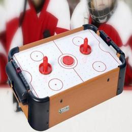 Игрушка стола хоккея воздуха Свободная игра миниой игры Winmax с 2 толкателями и 1 шайбой для подарка рождества детей MDF
