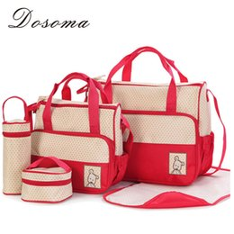 designer nappy bags uaf2  Wholesale-2016 New Designer Women Fashion Five In One Diaper Bag Nappy Bag  For mommy And Baby Changing Maternity Infant Stuff Storage Bags