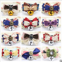 online shopping Dog Collars Adjustable Leather Dog Collar Pet Grooming Rabbit Cat Puppy Bells Bow Luxury Lace Bowtie Pet Dog Puppy Lovely Pet Product