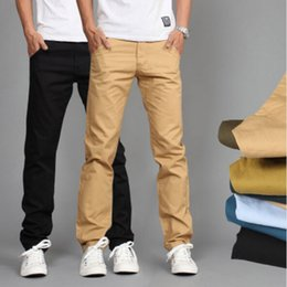 Discount Slim Straight Khaki Pants | 2017 Slim Straight Khaki ...