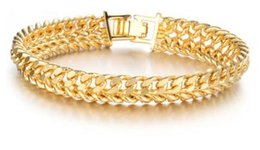 online shopping Special offers k gold jewelry Personality man cool bracelet long lasting color preserving allergy one size can choose