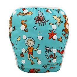 Wholesale Ohbabyka bébé couches de tissu couvre maillot de bain natation couche de natation bébé lavable bébé nappies réglable bébé maillots de bain