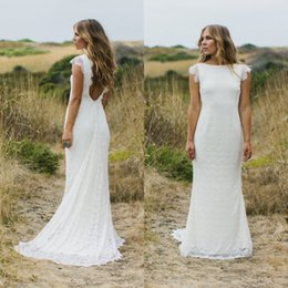 bohemian wedding dresses mermaid style 2017 country lace open back bridal gowns custom made western designer robe de mariage