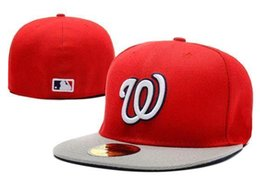 online shopping top Sale Washington Nationals Street Fitted Fashion Hat W Letters Snapback Cap Men Women Basketball Hip Pop caps